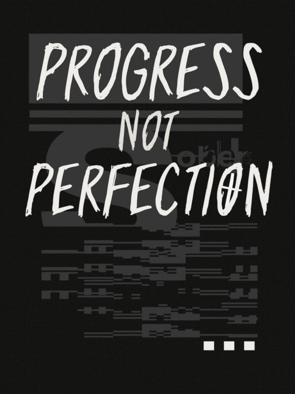 progress not perfection clothing