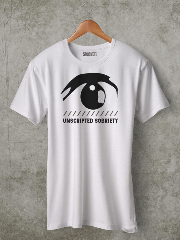 unscripted sobriety t shirt