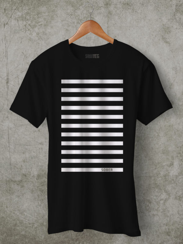 white lines t shirt