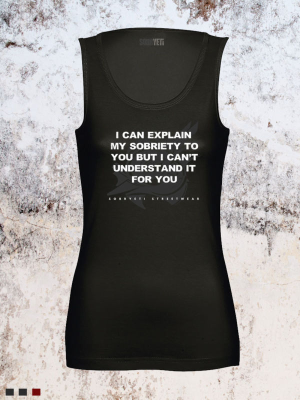 women's my sobriety tank top
